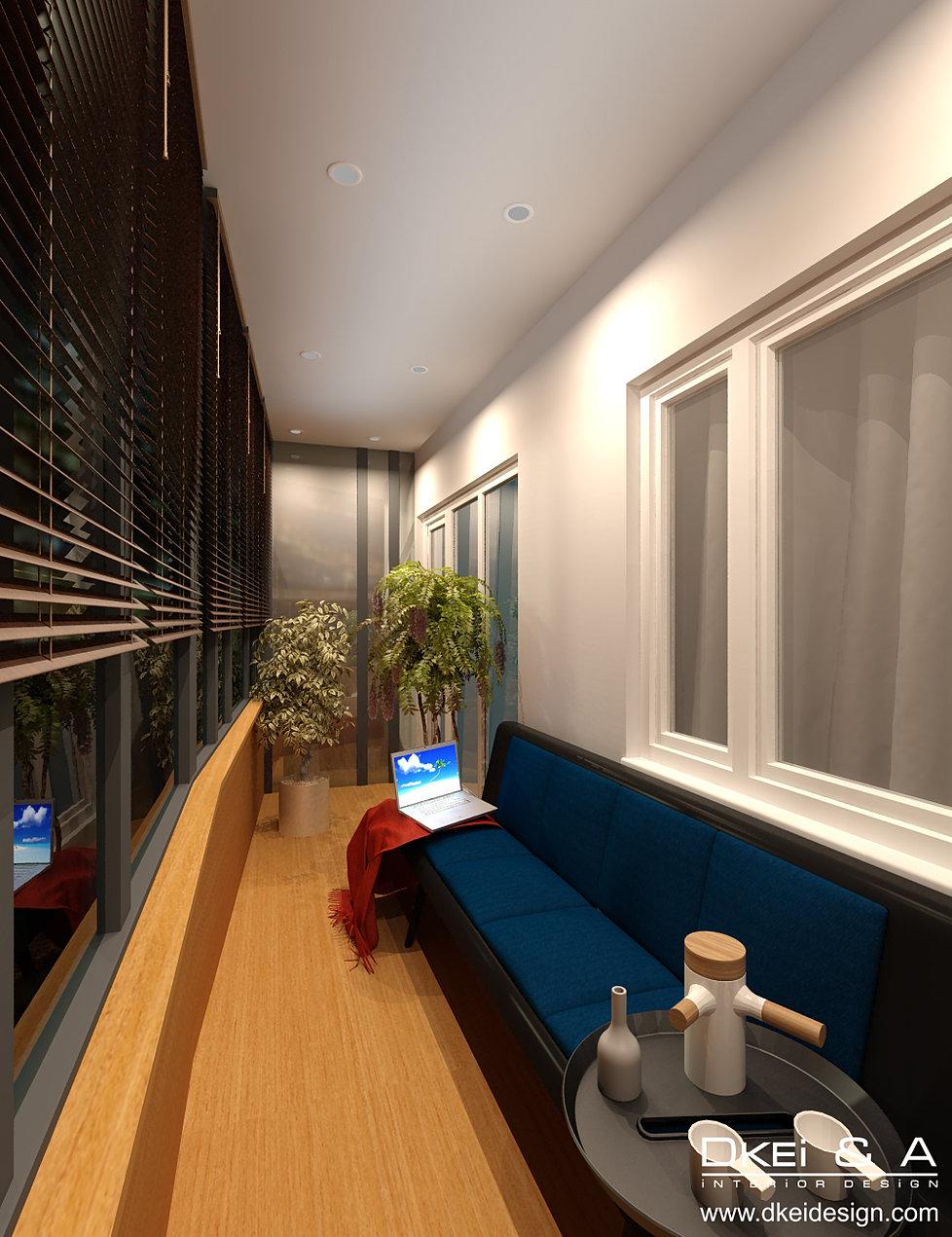 Дизайн студии без балкона.