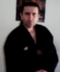 Photo of David Dumolo in martial arts uniform