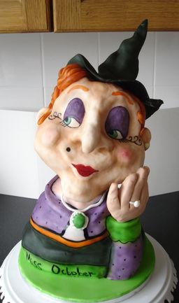 Miss October-3d Scuplted cake