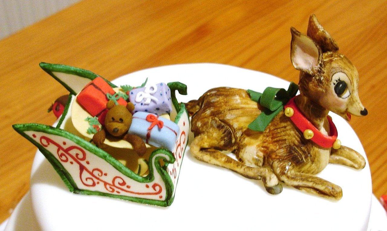 Santa Sleigh Cake Topper