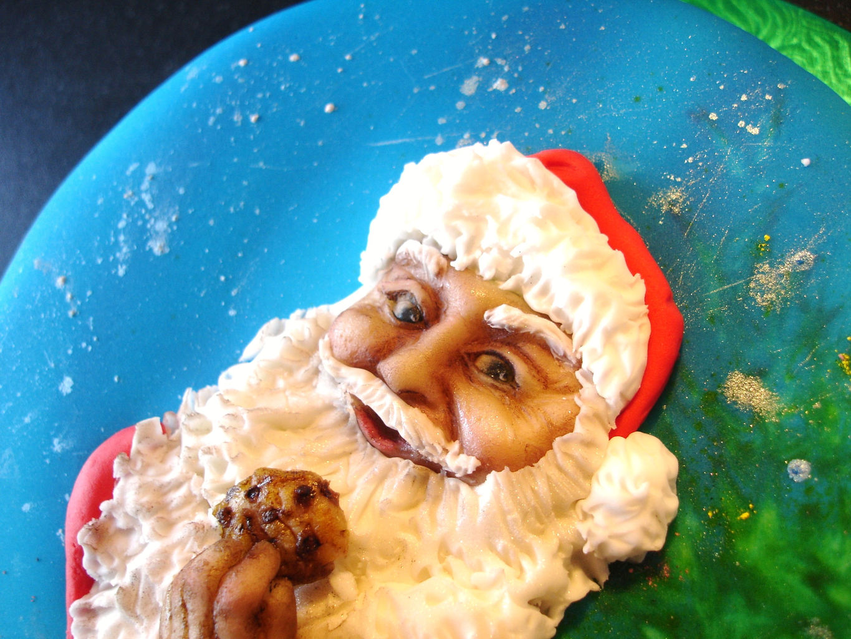 Hand sculpted Santa Face