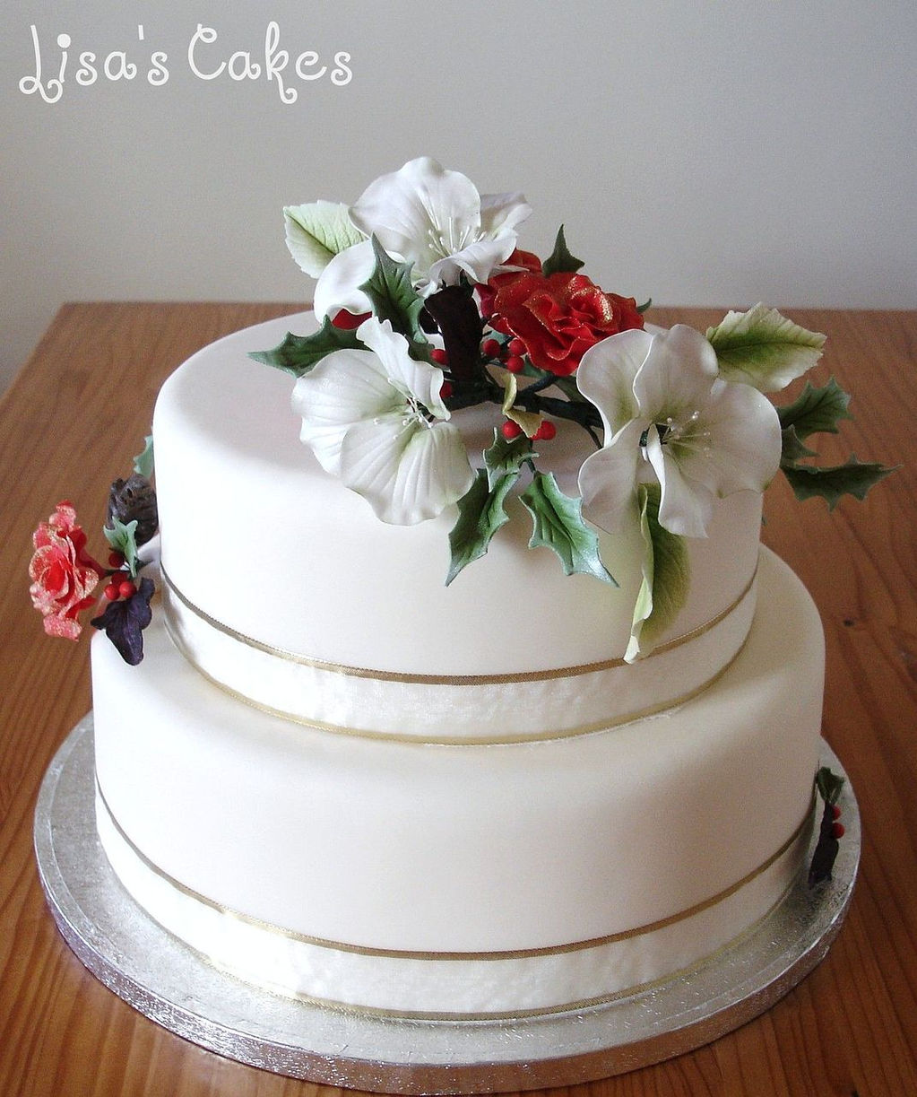 Christmas Cake Decorations Flowers: Lisas Cakes.Speciality Cakes And Cupcakes For All