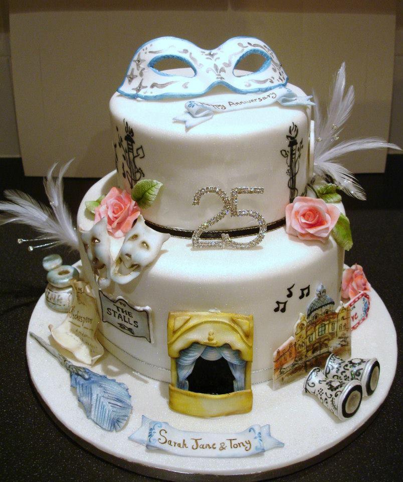 Silver Wedding Drama Cake