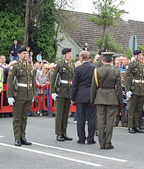 Inspecting a guard of honour