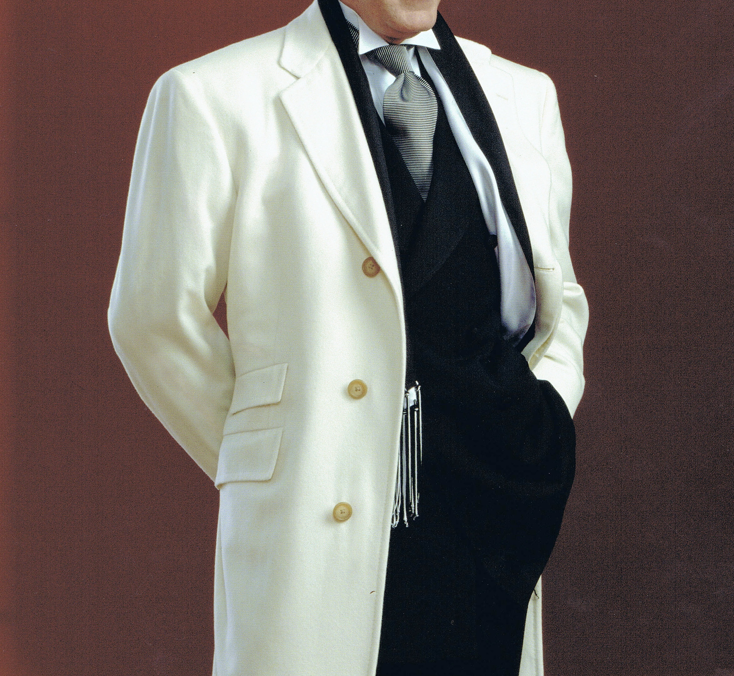 Jack Simpson Couture | THE WHITE CASHMERE TOP COAT Tuxedo Shirt