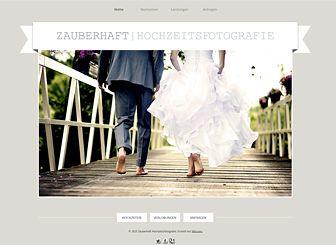 Hochzeitsfotograf Template - Diese zeitlose Vorlage im eleganten Design eignet sich perfekt für Hochzeitsfotografen. Bearbeiten Sie die Galerien, um Ihre kreativen Arbeiten zu zeigen und fügen Sie Text hinzu, um über Ihre Preise zu informieren.