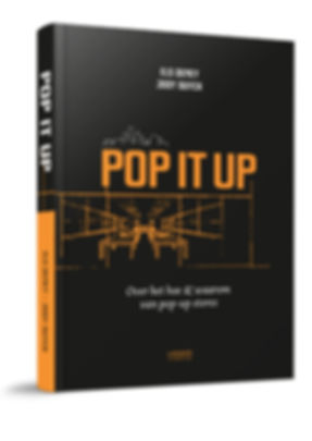 Cover boek Pop it up: over het hoe & waarom van pop-up stores (LANNOCAMPUS)