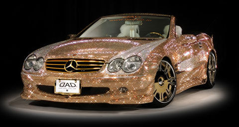Gold Crystal Diamond Swarovski Mercedes Benz Jpg