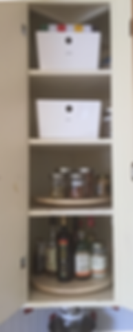 Organized Corner Kitchen Cabinet