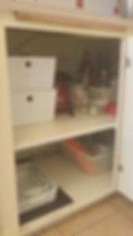 Organized Corner Cabinet