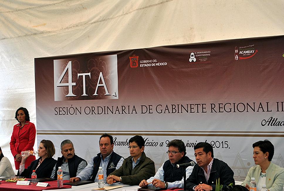 REUNIÓN DE GABINETE REGIONAL