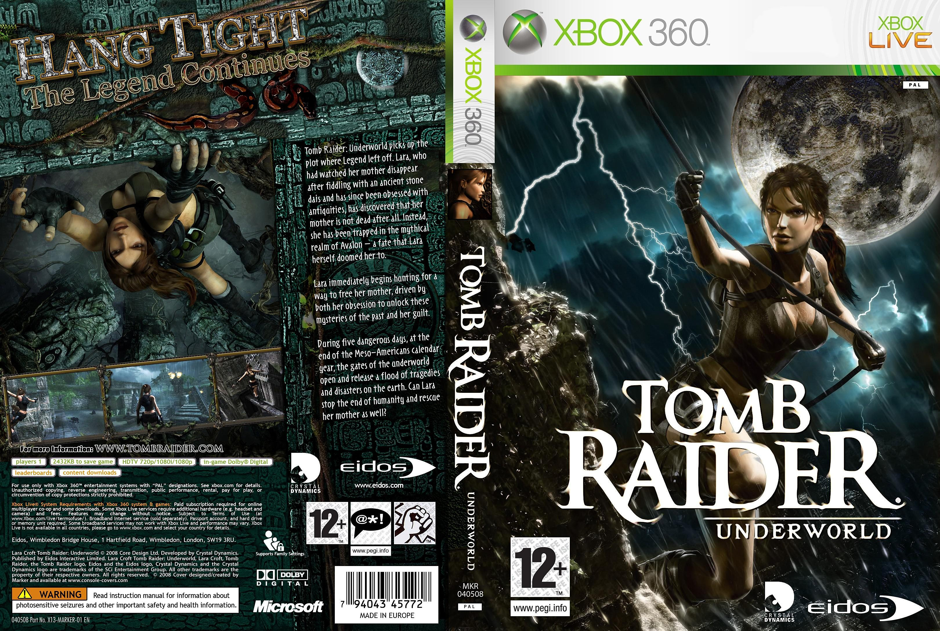 Tomb Raider Underworld Xbox 360 Game