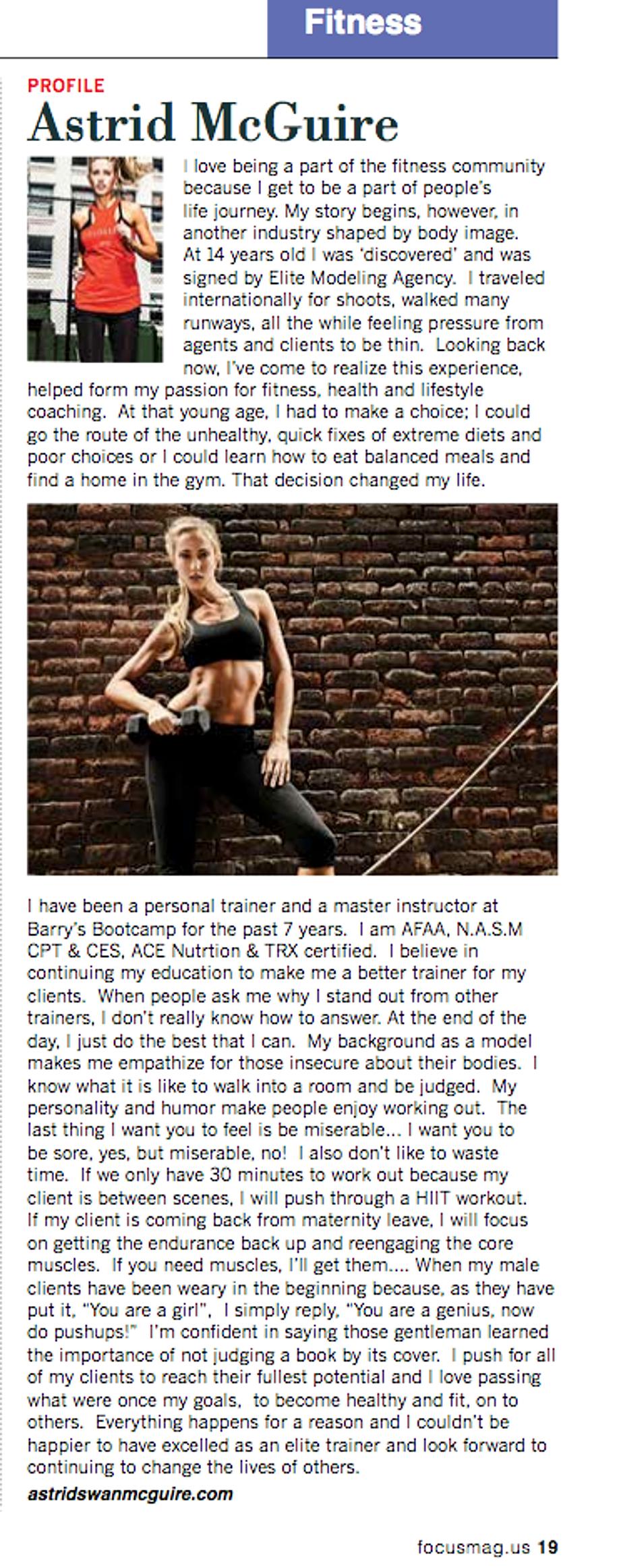 Astrid McGuire - May 2014, Focus US