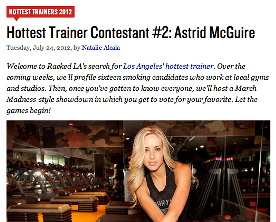 Hottest Trainer Contestant