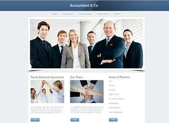 Accountant Site Website Template | WIX