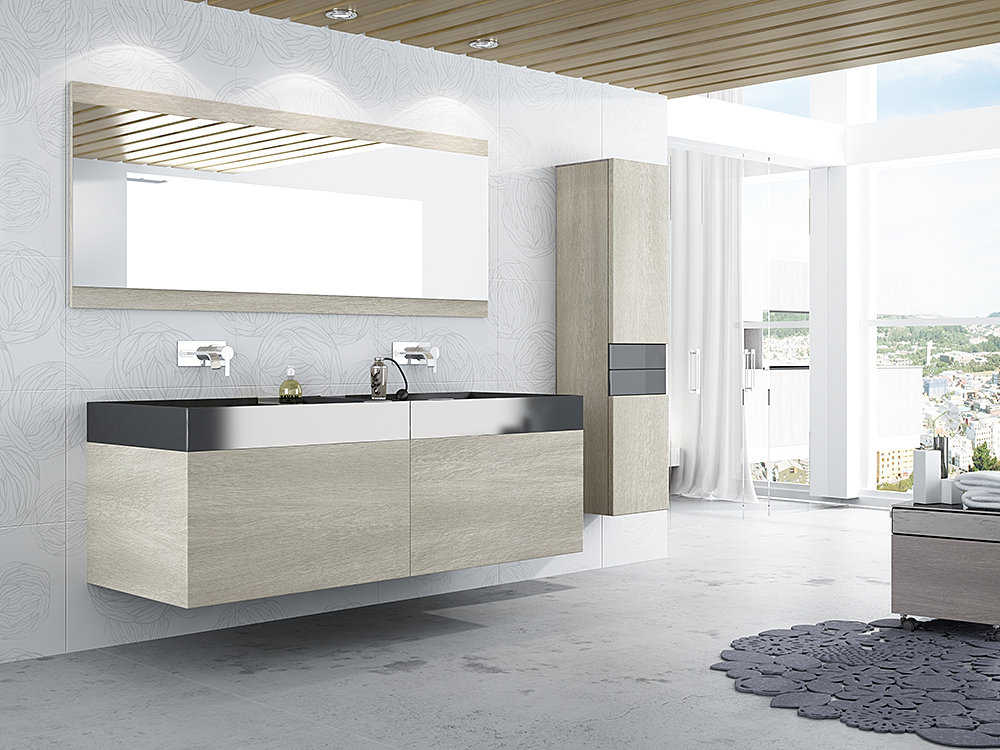 Luxe High Gloss Doors Inc Seamless Bathroom Floating