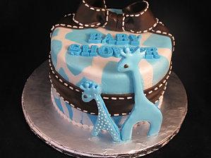 Wild Safari Baby Shower Cake