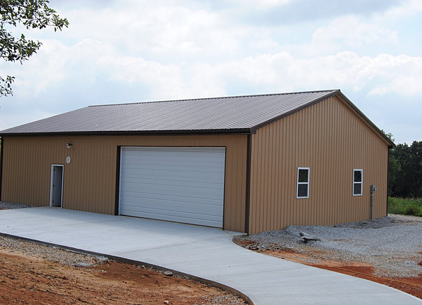 Tin man metals trusses and pole barm packages stanford ky for Cheap barn kits
