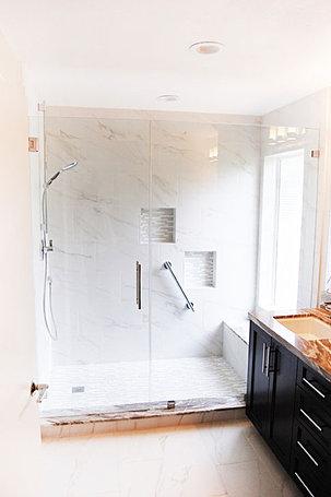 bathroom shower remodeling woodland hills before after photos_web - Bathroom Remodeling Woodland Hills