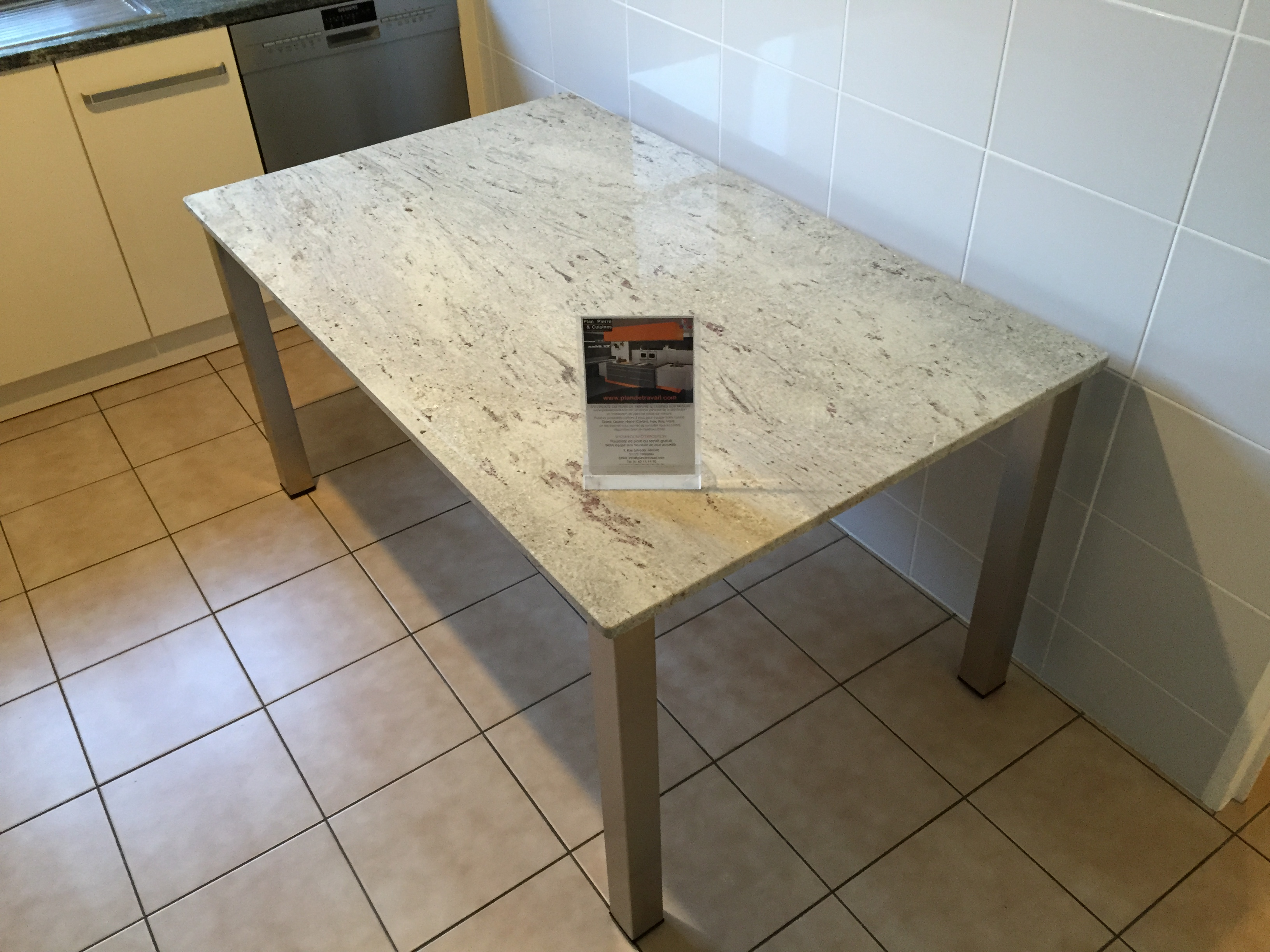 Plan de travail granit quartz table en mabre paris essonne table - Plateau de table en granit ...