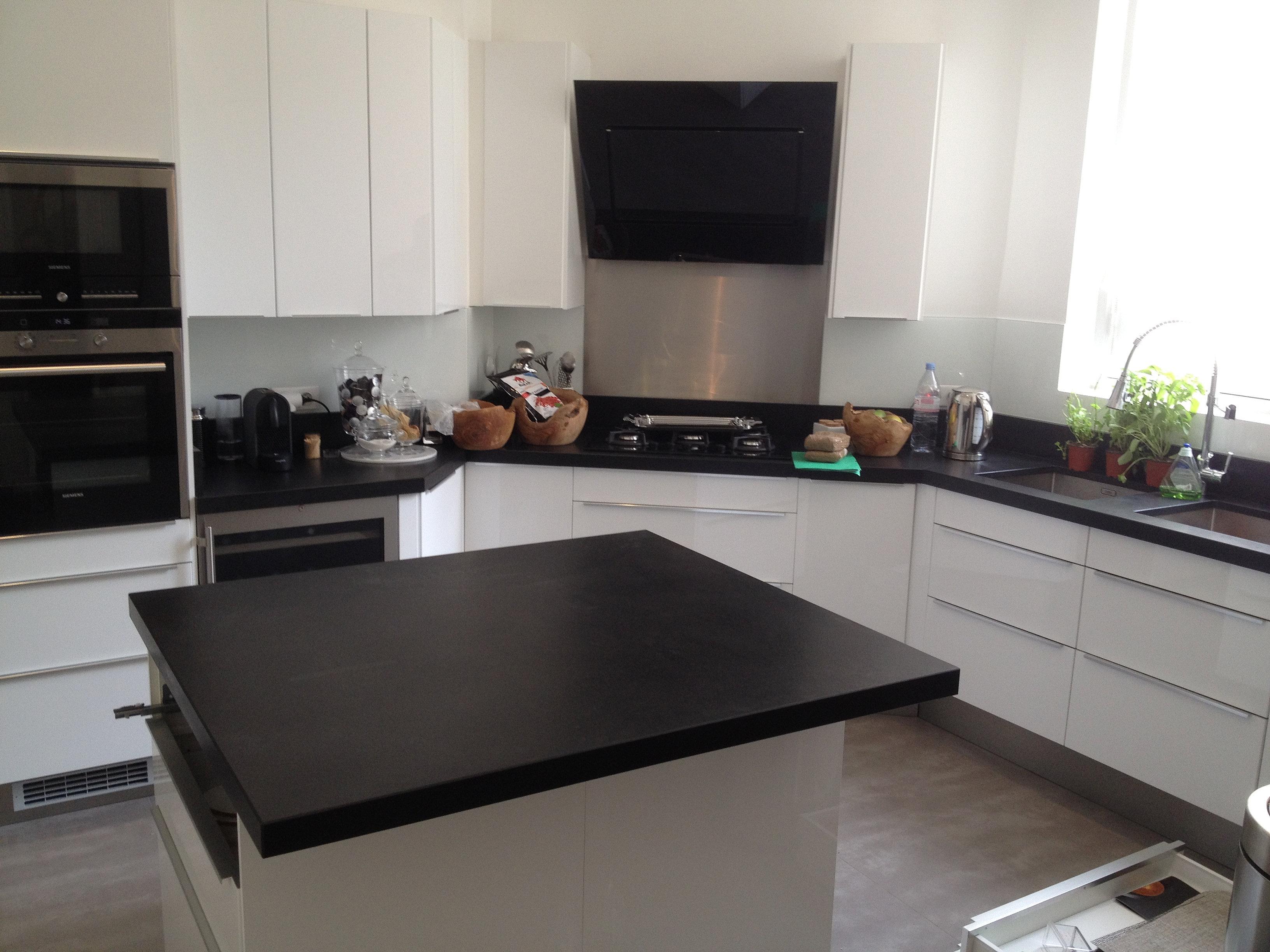 Devis plan de travail com paris granit quartz marbre - Plan de travail ilot cuisine ...