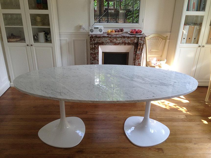 Plan de travail cuisine pierre granit paris marbre corian - Table en marbre rectangulaire ...