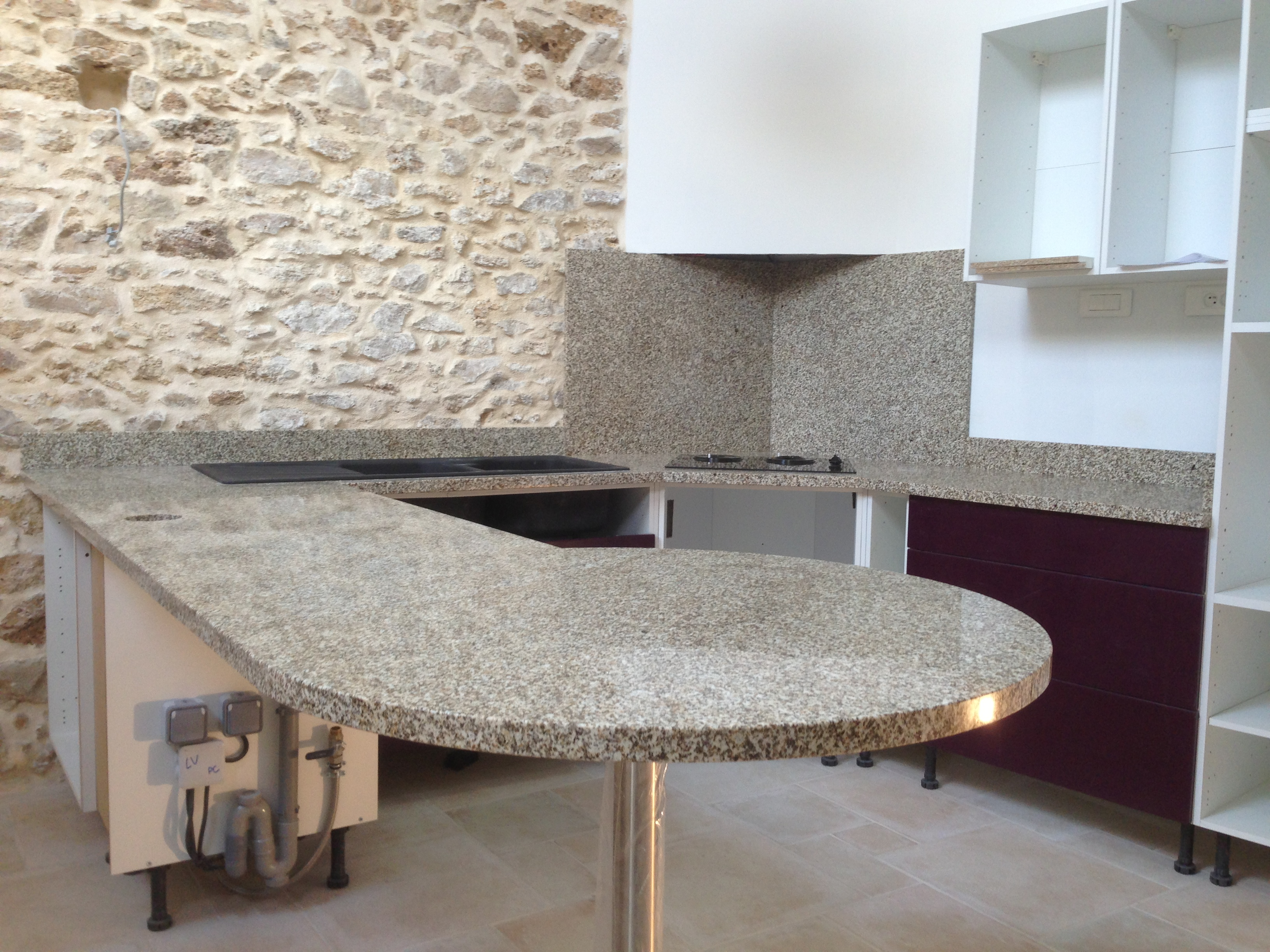 Devis plan de travail com paris granit quartz marbre for Table de cuisine kreabel