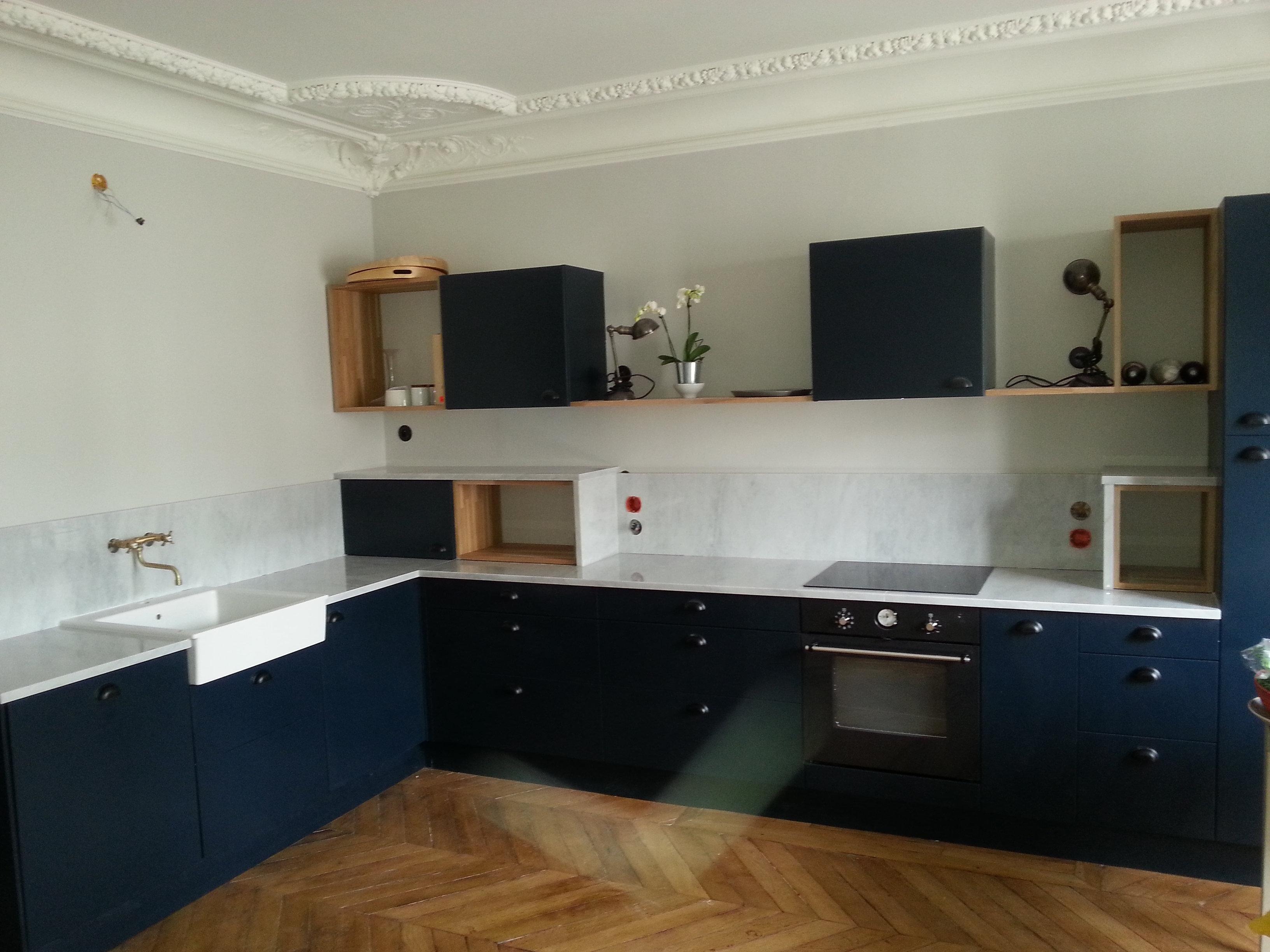 Plan de travail granit quartz table en mabre paris for Plan de travail en marbre cuisine
