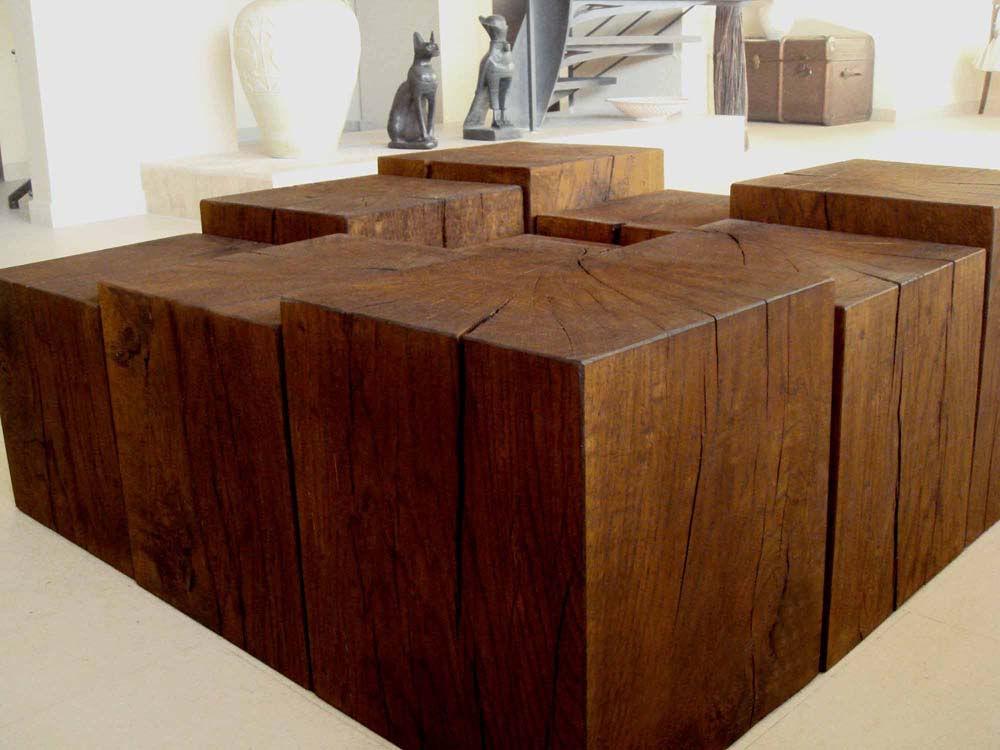 wooden cubes furniture. Oak Wood Cubes Table 1 Wooden Furniture