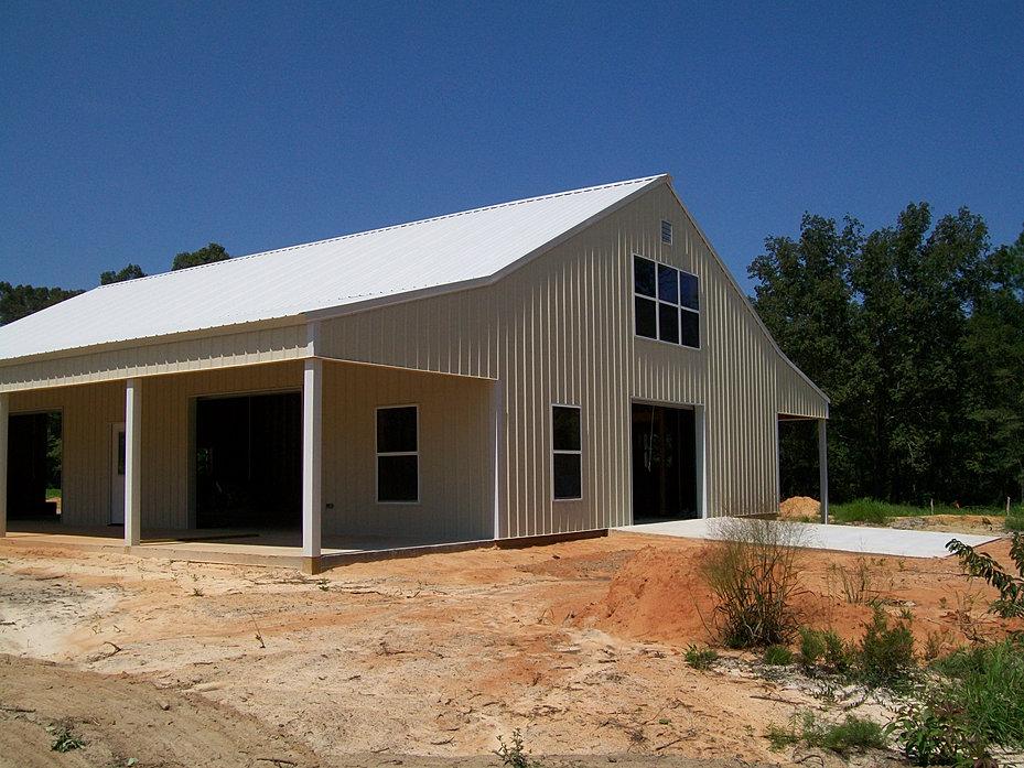 Backwoods buildings truss llc pole barns chipley for Open pole shed