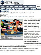 """Yoga Soars in Bad Economy"""
