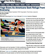 """Yoga Soars in Bad Economy"