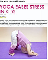 """Yoga Eases Stress in Kids"""