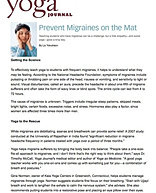 """Prevent Migraines on the Mat"""
