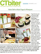 """Kaia Cafe at Kaia Yoga in Westport"""