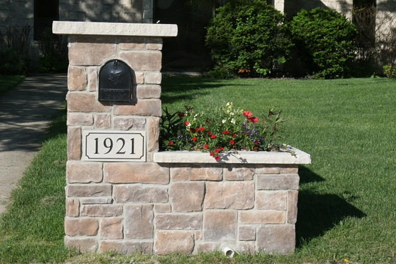 Stone Mailbox Pillars : Custom mail boxes for urban rural use