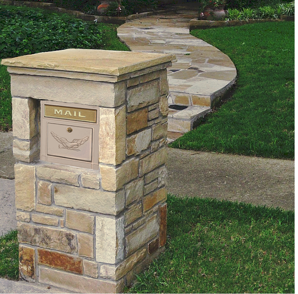 Stone Mailbox Pillars : Column mailbox footings an overview