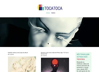 Blog de Música Template - Voltado para os blogueiros de música profissional, este template moderno apresenta um layout criativo e muito espaço para conteúdo de multimídia. Crie seus posts para promover seus artistas, músicas e vídeos preferidos. Comece a editar e faça barulho!