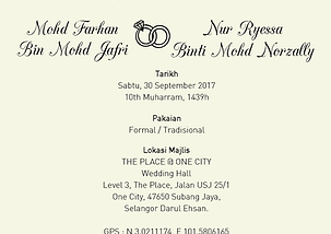 Gizby cards invitation card inner details size a01 shared receptionmalay stopboris Image collections