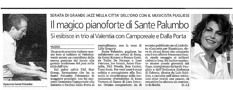 Sante Palumbo Jazz Promotion