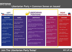 a research on the political views and beliefs of the libertarian party Here are just a few excerpts of the libertarian party platform that david koch ran  on in  are calling the shots and are pulling the strings of the republican party.