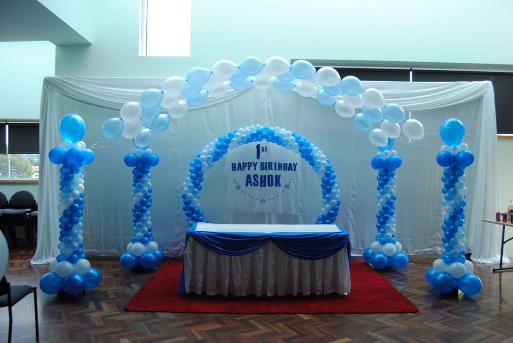 Wedding planner wedding decorations melbourne reception for Balloon decoration for 1st birthday party