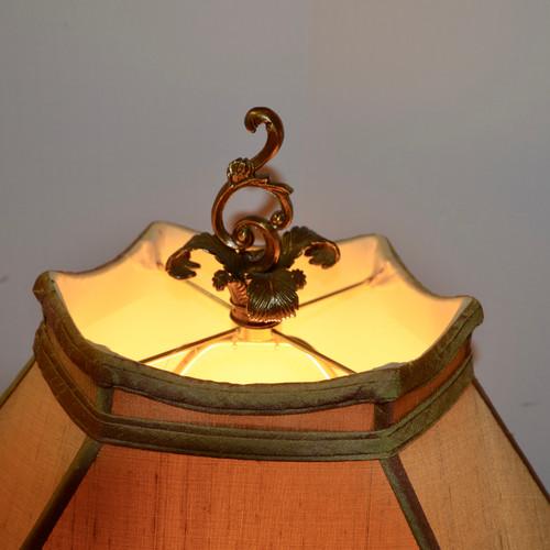 Lamps, Pair. Silk Shades. An Estate Look. New.