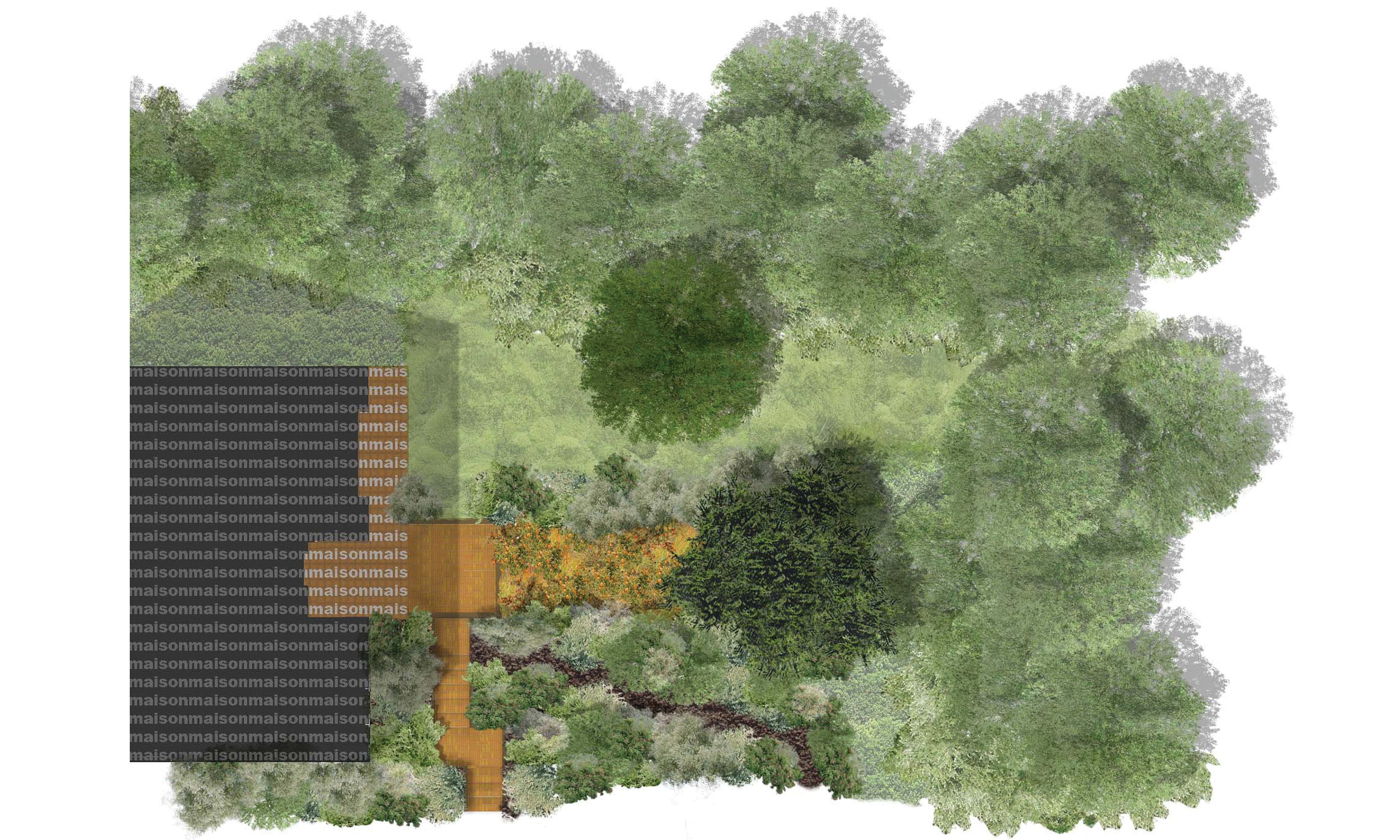 Petit jardin de 300m2 r alis for Jardin 300m2
