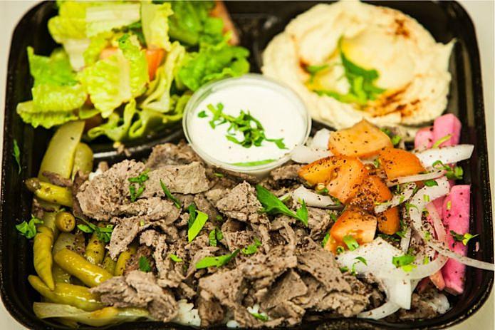Beef Shawarma Pita Beef Shawarma Platter