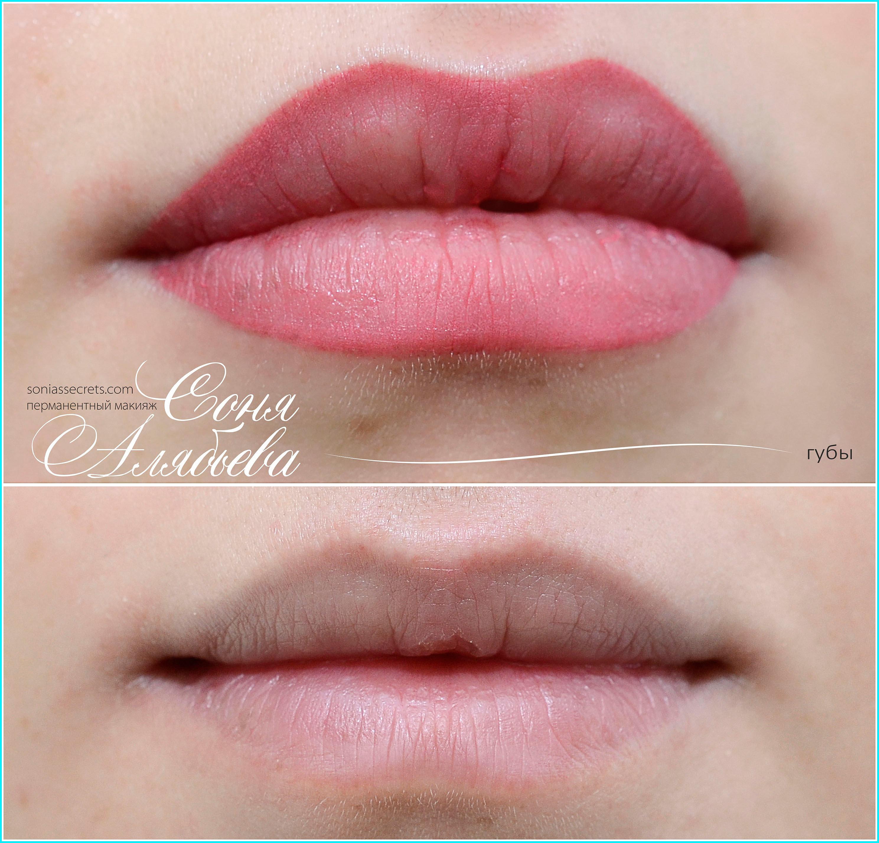 Перманентный макияж губ фото работ