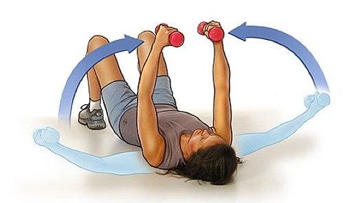Фитнес для девушек - качаем грудь.