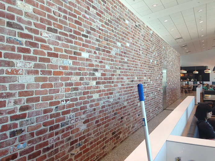 Recycled bricks feature wall jpg Bricks sydney