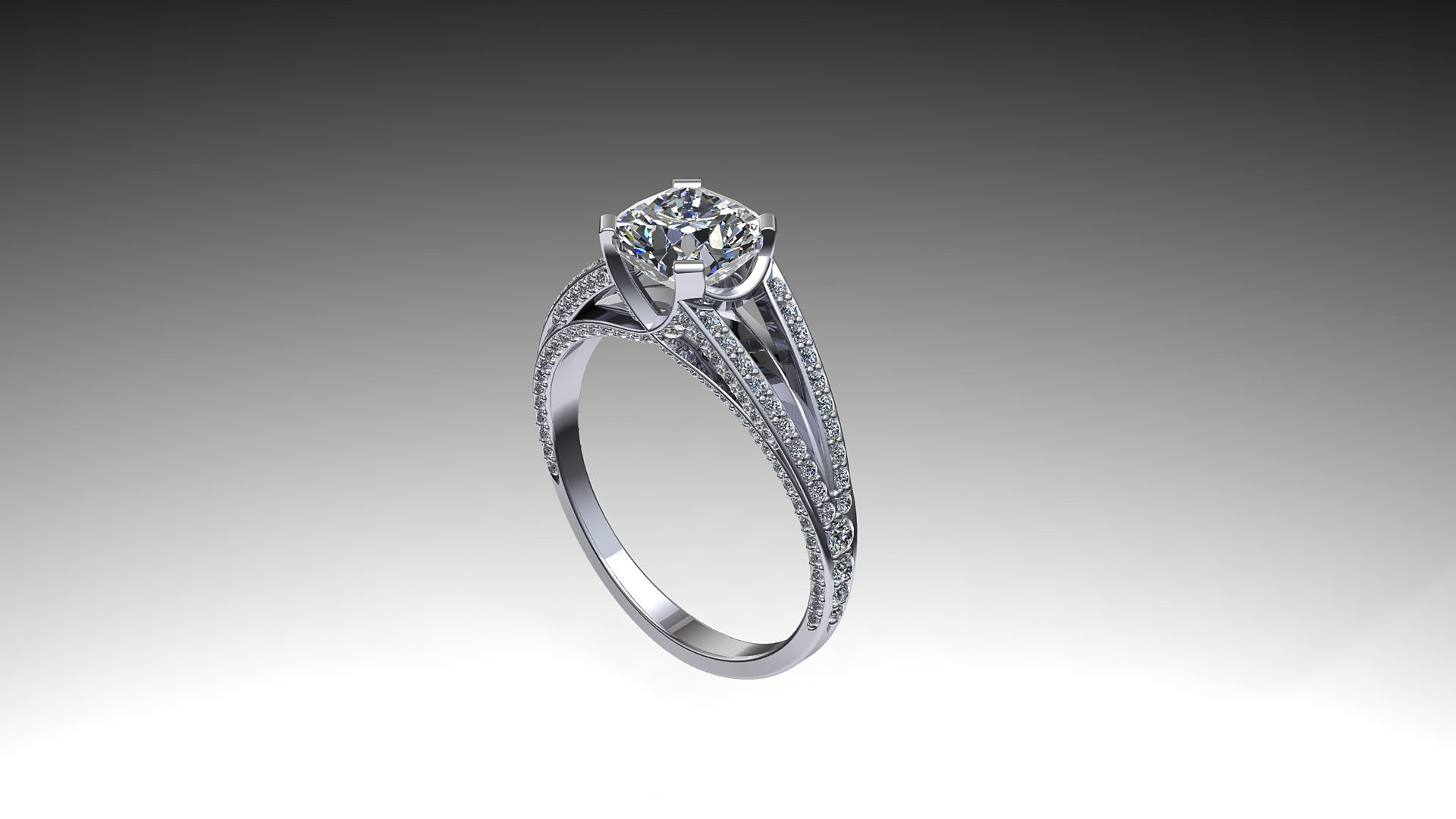 Maxwell Cad  Crossover Engagement Ring