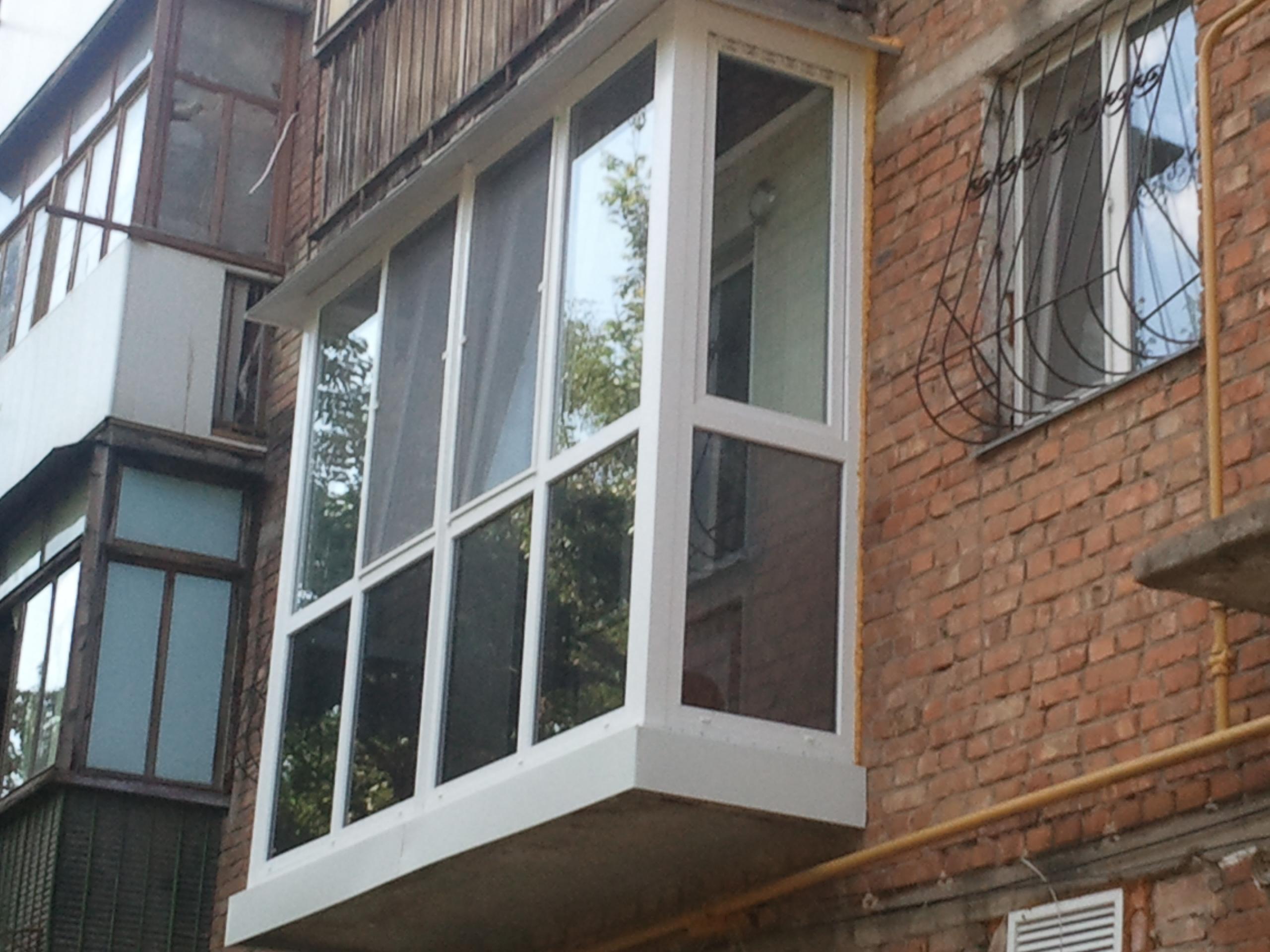 Французские балконы стекло фото.